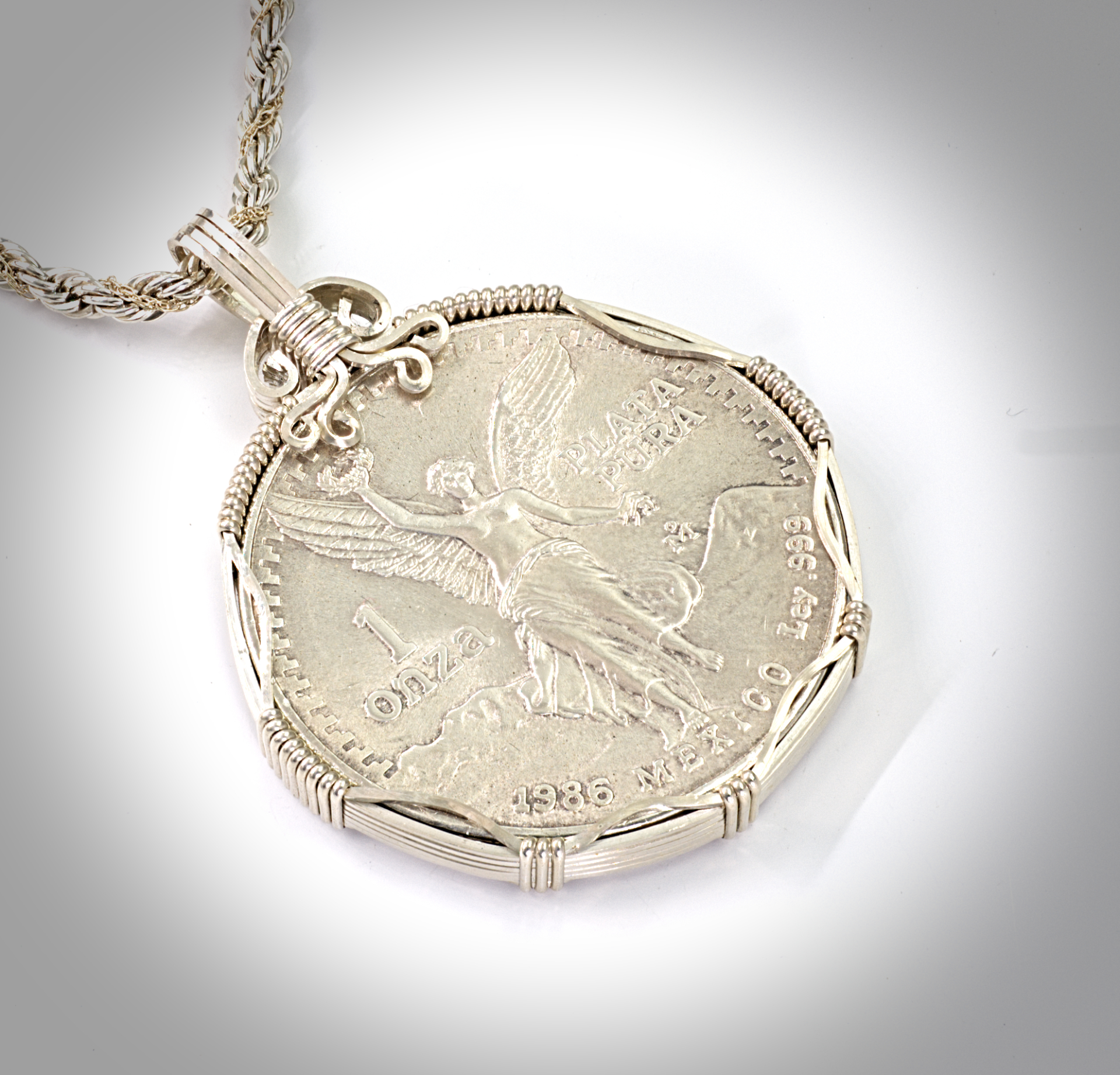 Coin pendants living stones creations mexican silver 85 aloadofball Gallery