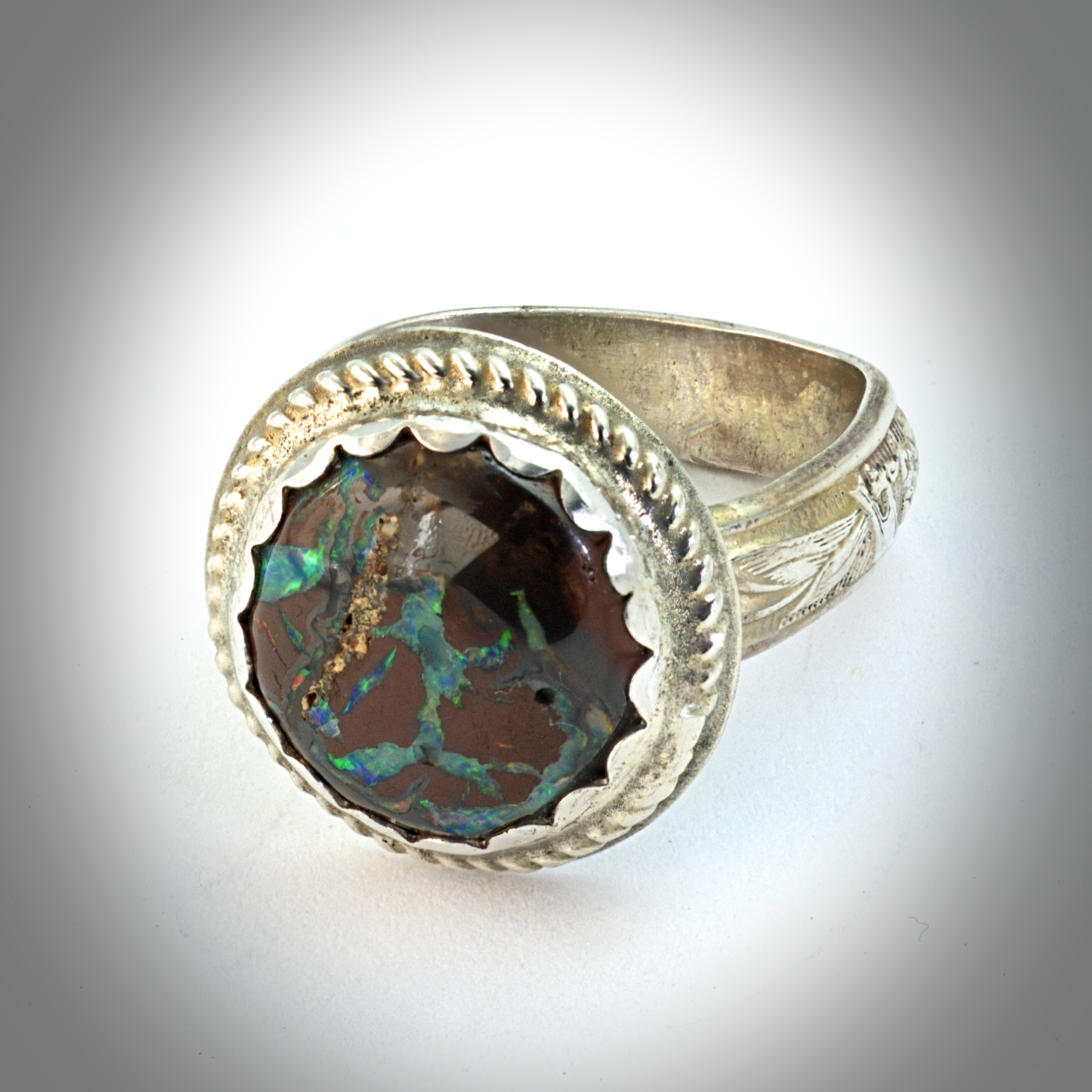 tyrone fine and antiques boulder ring gold products opal rings sarkis img yellow engagement jewellery